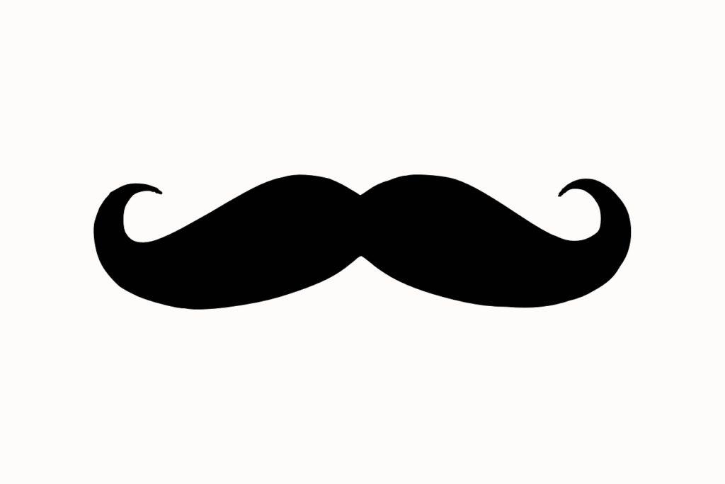 moustache, silhouette, face